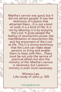 Church Life is a Life of Feasting: we Serve the Lord and Testify of Resurrection Life