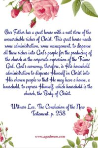 We are Headed up in Christ through the Divine Dispensing which is Sweet and Intimate