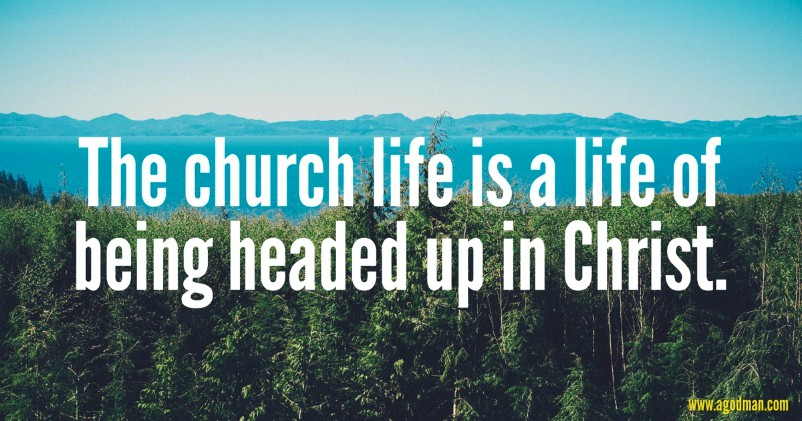 The church life is a life of being headed up in Christ.
