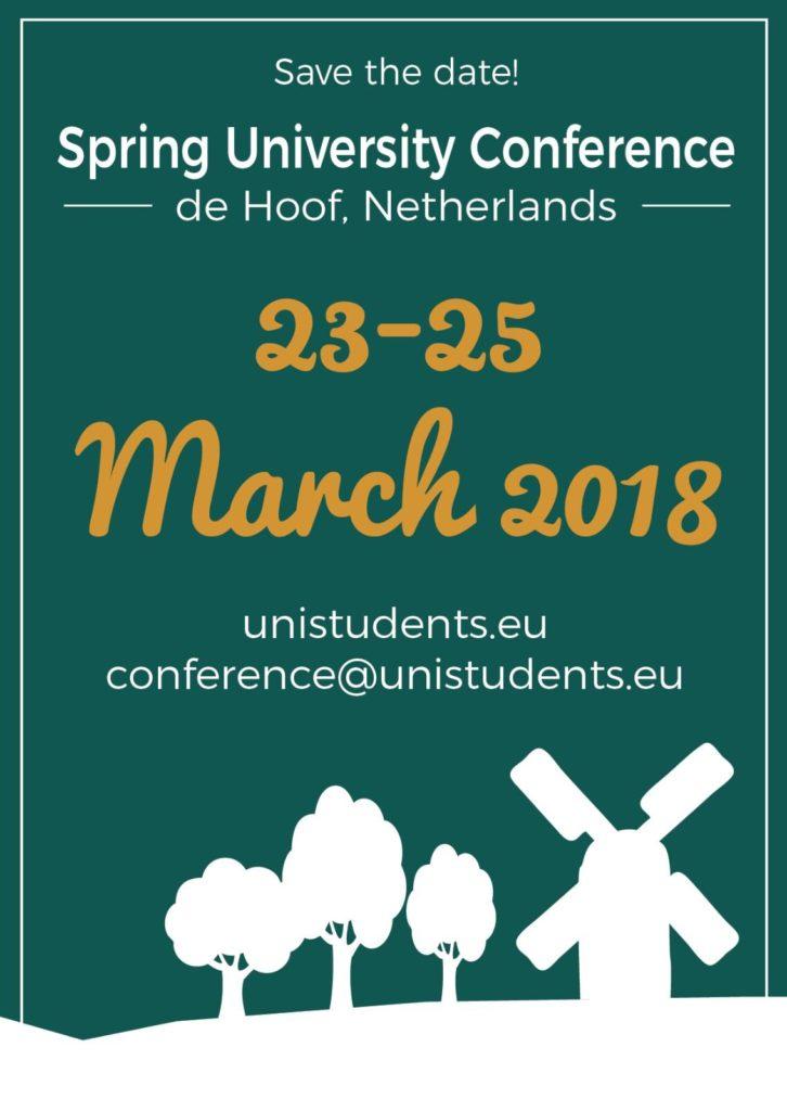 2018 Spring University Conference in de Hoof, Netherlands.