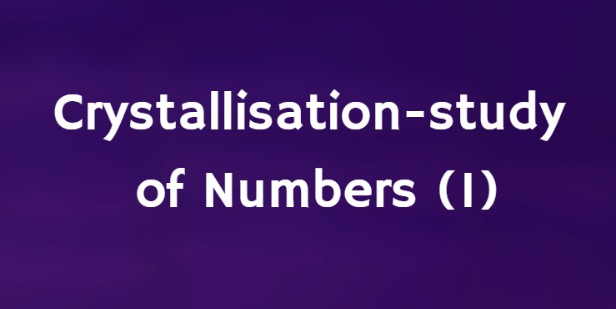 Crystallisation-Study of Numbers (1) - Holy Word for Morning