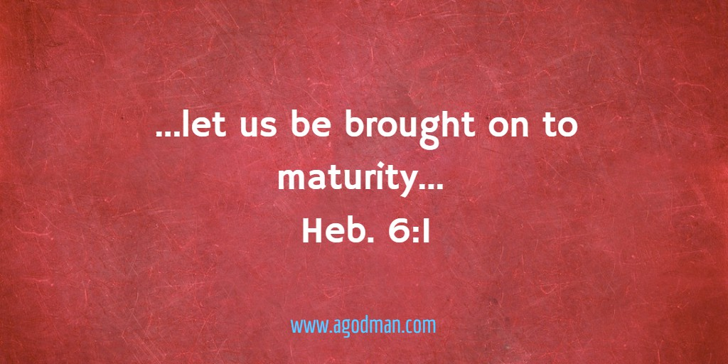 ...let us be brought on to maturity... Heb. 6:1